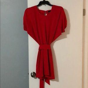 Stunning back less red dress